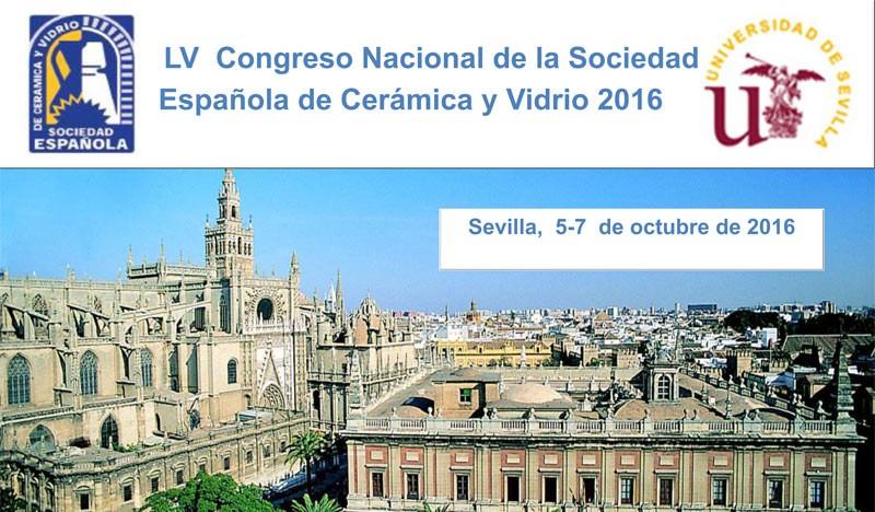 LV Congreso de la Sociedad Española de Ceramica y Vidrio. Sevilla 5-7 octubre 2016