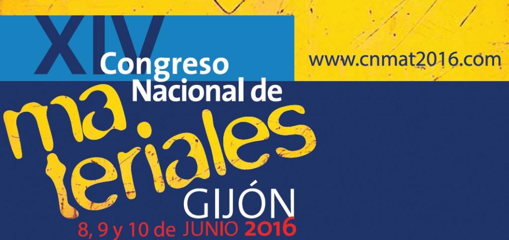 XIV Congreso Nacional de Materiales del 8 al 10 de junio de 2016 en Gijón